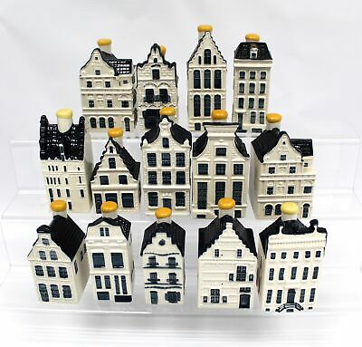 14 KLM By BOLS Holland Blue DELFT Collectable Miniature House Ornaments - C78 • 72.05£