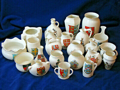 Job Lot Of 23 Pieces Of Goss Crested China (1) • 9£
