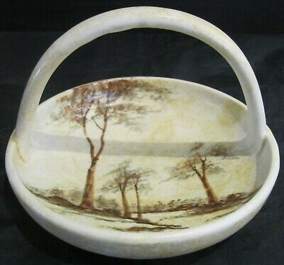 Radford Shallow Basket With 'Trees' Design By James Harrison • 30£
