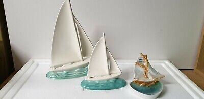 Poole Pottery Yacht Two Tone Very Rare Collectables • 0.99£