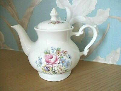 VINTAGE- Royal Norfolk Staffordshire England -TIFFANY- Floral Design Teapot -VGC • 10.95£