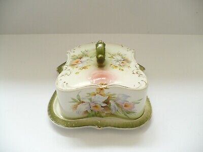 ANTIQUE GRIMWADES LARGE CHEESE DISH / BUTTER & COVER C1900 • 16£