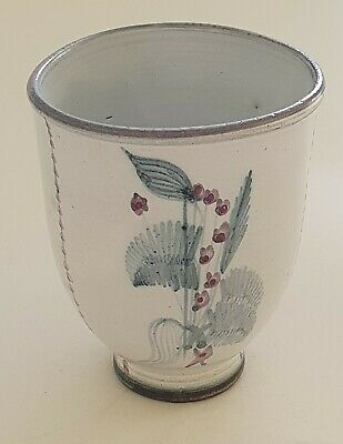 Rye Pottery Vase / Cup / Beaker Eric Ravilious Influenced. • 19.99£