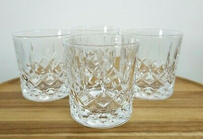 Set Of Four Good Quality Crystal Whisky Tumblers • 30£