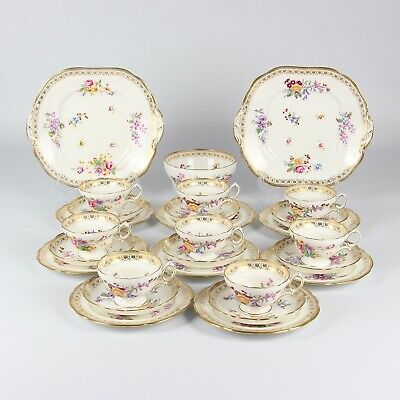 Hammersley Tea Set Hand Painted Gilded • 495£