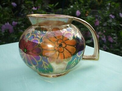 Avon Old Court Ware Hand Painted Lustre Jug With Floral Decoration In VGC. • 7.99£