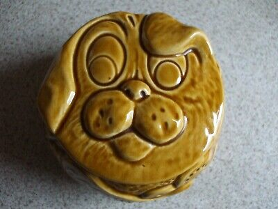 Rare Vintage Retro SylvaC Doggy's Dinner Facepot Jar 5194.Dog Biscuits.VGC. • 54.99£