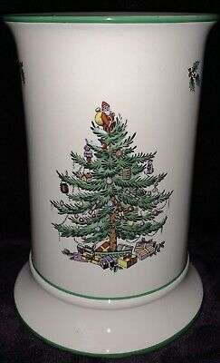 Spode Christmas Tree Candle Holder For Pillar Candle Reindeer On Reverse • 45£