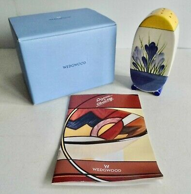 Stunning Clarice Cliff Blue Crocus Sugar Shaker By Wedgwood - Box & Booklet • 23£