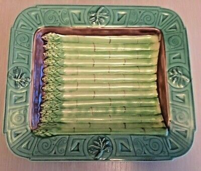 Rare And Unusual Collectable Asparagus Plate In The Style Of Minton Majolica • 20£