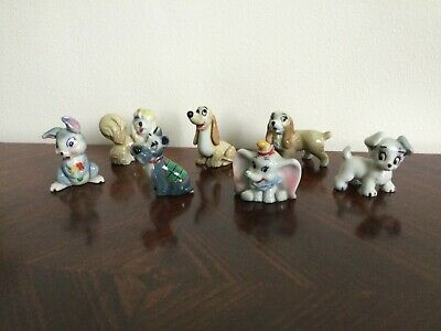 WADE WHIMSIES- 7 X DISNEY CHARACTERS- LADY And THE TRAMP, OTHERS • 34.99£