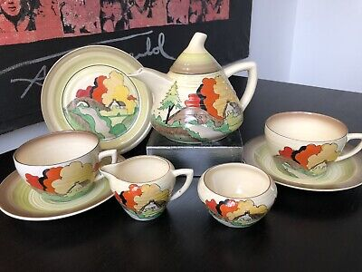 Clarice Cliff Tea For Two Set In Lorna Pattern • 1,195£