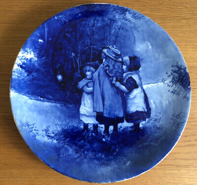 Antique Royal Doulton Blue Children Looking For Tinkerbell Plate • 30£