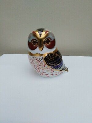 Royal Crown Derby Paperweight 2001 Tawny Owl Gold Stopper 1st Quality  • 23£