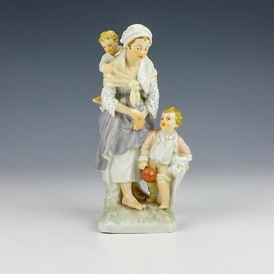 Antique KPM Berlin Porcelain - Hand Painted Lady With Children Figurine • 56£