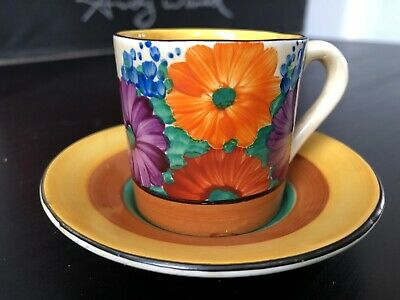 Clarice Cliff Bizarre Gay Day Coffee Can • 175£