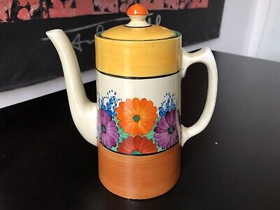 Clarice Cliff Bizarre Coffee Pot In Gay Day Pattern • 195£