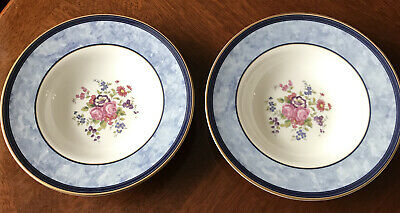 2 X Royal Doulton CENTENNIAL ROSE 20cm Rimmed Bowls. Lovely Condition Set#1 • 7£