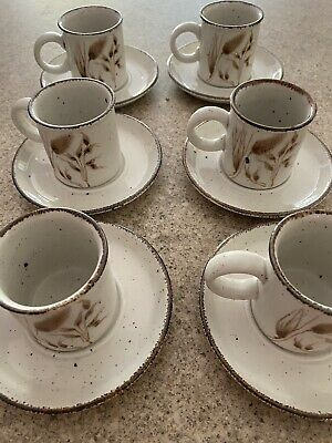 Stonehenge Midwinter Espresso Coffee Cups And Saucers X6 • 17.50£