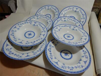 Queens Queen's Ingrid 8 X Soup Size Bowls Made In England. • 24.97£