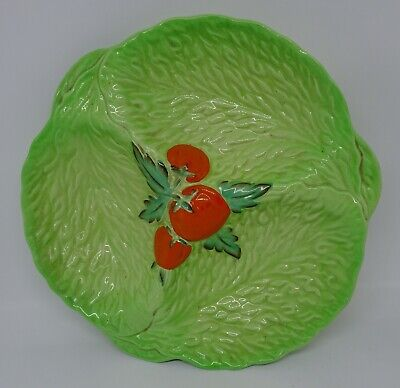 Beswick Ware Lettuce Pattern 3 Compartment Serving Plate 8.5   • 8.99£