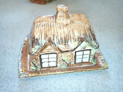 Vintage Price Bros COTTAGE WARE  Butter Dish / Cheese Dish House Shape  • 2.30£