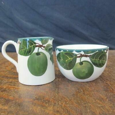 Vintage Pountney Bristol George Stewart Wemyss Ware Greengages Jug & Bowl • 20£