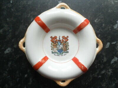 Crested China - Lifebelt - Southend On Sea Crest - Marked Foreign • 2.50£