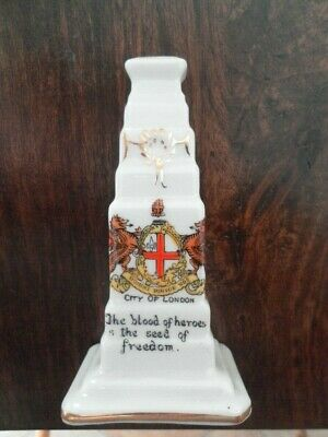Very Rare With Verse - Crested China - Cenotaph WW1 - London Crest - Alexandra • 2.50£