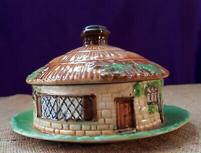 1930s BESWICK (#247) Cottage Ware Butter/ Cheese. Cold Cuts Dish With Lid. Gift • 12£