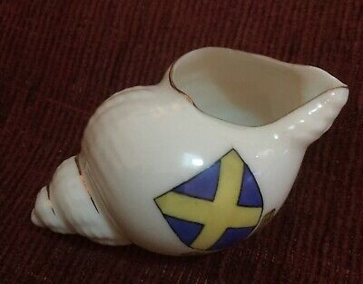 Antique Crested Ware Grafting China - St Albans - Sea Shell • 4£