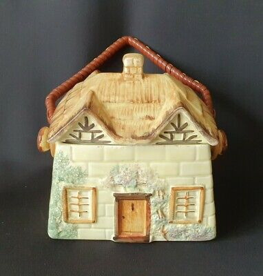 Cottage Shaped Biscuit Barrel / Caddy By Paramount Pottery • 8£