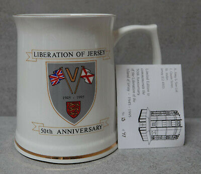 Liberation Of Jersey 50th Anniversary 1945 - 1995 Fine Bone China Tankard • 29.99£
