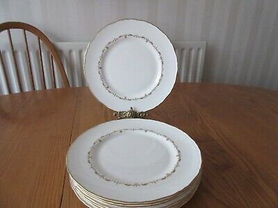 Royal Worcester Gold Chantilly 10 1/2  Dinner Plates. • 28£