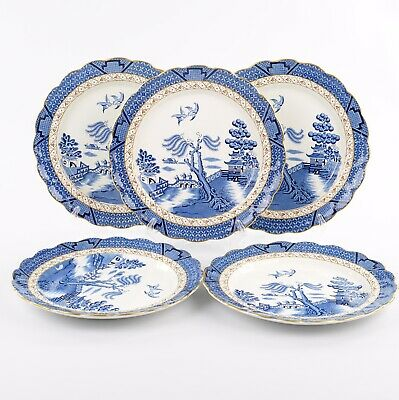 Booths Real Old Willow 5 X Large Dinner Plates, 10.5 Inches • 70£