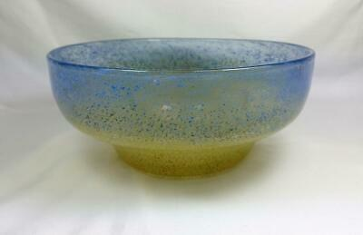 Rare Early Monart Scottish Glass Bowl With Inclusions Raised Pontil  Lb Shape • 9.99£