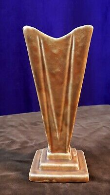 1930s Art Deco REX Pottery (England) Biscuit Slip Stepped Vase. Odeon-Styling • 14£