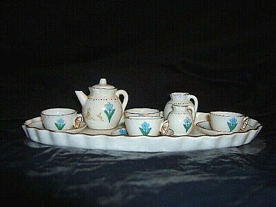 Vintage W H Goss Forget-me-nots Bournemouth Coat Of Arms Hand Painted Tea Set • 42.26£