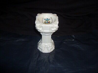 Vintage W H Goss Bewdley Model Of Ancient Font In St Ives Church Cornwall • 26£