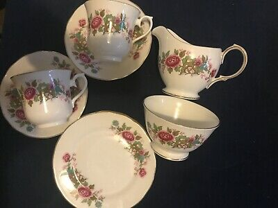 Vintage Queen Anne Bone China Tea For Two Set With Shortbread Biscuits. • 12.70£