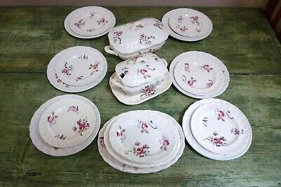 Antique Bishop & Stonier Bisto Children's Miniature Nursery Ware Dinner Service • 50£