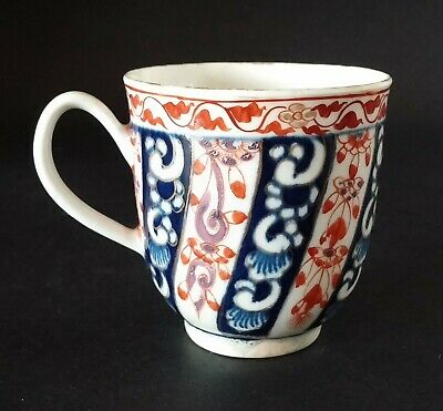 18th C. Worcester 1st Period Dr Wall Queen Charlotte Pat. Porcelain Coffee Cup  • 15£