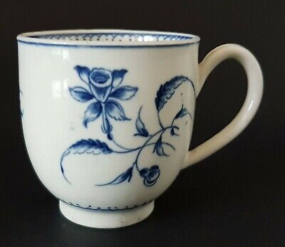 18th C. Worcester 1sr Period 'Dr Wall'  Narcissus Pattern Porcelain Coffee Cup • 21£