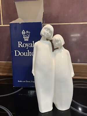 Royal Doulton England Images Sisters Hn3018 Group Figurine White Fine Bone China • 21£