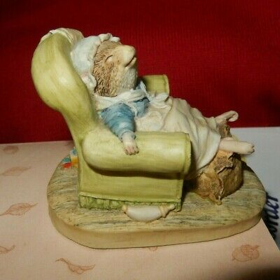 Brambly Hedge Border Fine Arts Figure Bh72 Poppy Asleep In The Chair Vgc • 9.99£