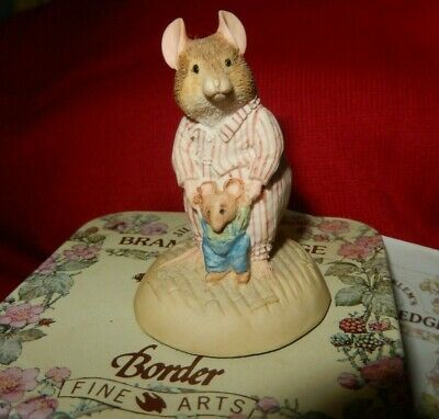 Brambly Hedge Border Fine Arts Figure Bh39 Wilfred Teddy Mouse  Vgc • 9.99£