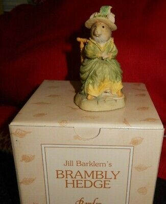 Brambly Hedge Border Fine Arts Figure Bh21 Lady Woodmouse In A Chair Vgc • 9.99£