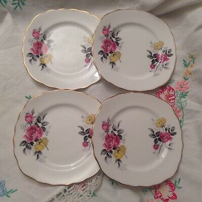 Pretty Vintage Royal Vale Bone China Tea Plates • 7.50£
