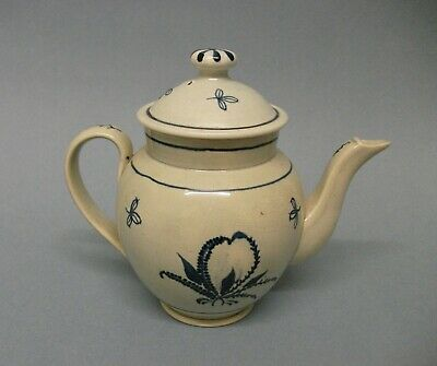 A Small Staffordshire Teapot & Cover, C.1790-1800 • 186£