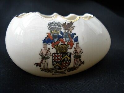 Vintage Carlton Crested China Open Eggshell Coat Of Arms. • 1.99£